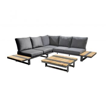 Yoi - Yuwaa corner set - antraciet | Next Outdoor
