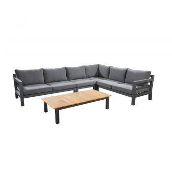 Yoi - Midori loungeset met lage tafel 140x75 - antraciet | Next Outdoor