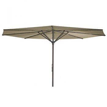 Borek - Braga Ø450 parasol - spuncrylic donker taupe | Next Outdoor