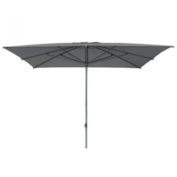 Borek - New York 300x300 parasol - spuncrylic donker grijs | Next Outdoor